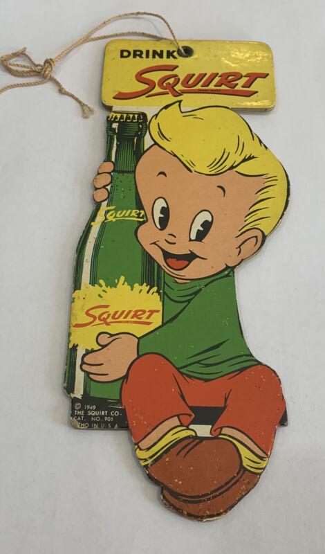 Squirt 1949 Soda Fan Sign Pull