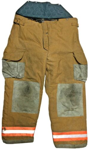 46x32 Janesville Lion Brown Firefighter Turnout Bunker Pants  P1302