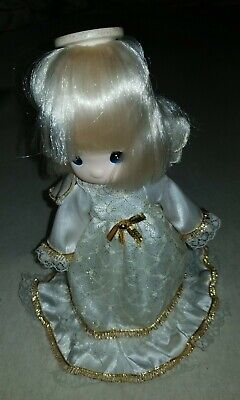 Precious Moments Angel Tree Topper - White Satin/old Lace Gown
