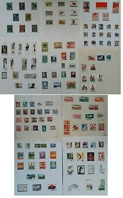 RARE c1940s- China large lot of Postage stamps Mint & Used On Pages