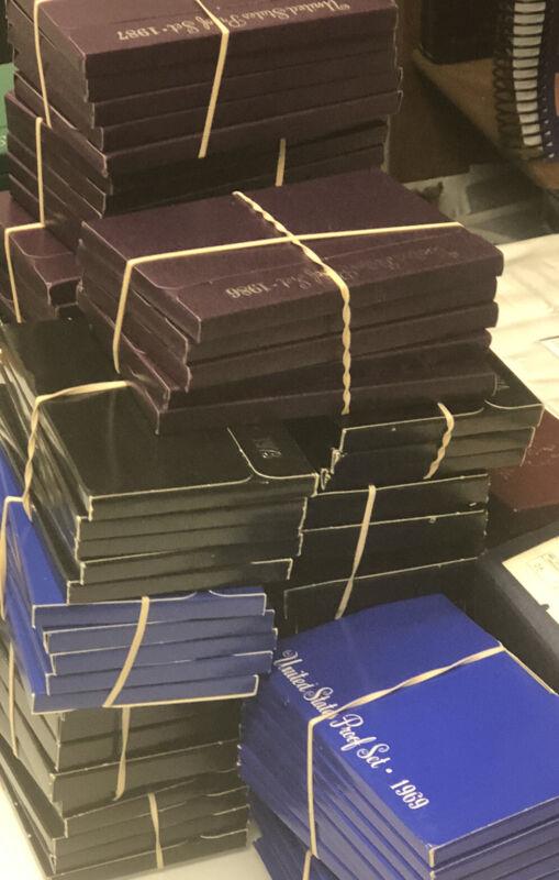 Estate Hoard Proof Sets Sale Huge Lot + Silver Bullion Bonus Set 15+ Years Look!