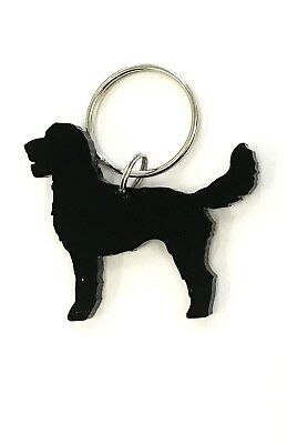 Labradoodle Dog Keyring Keychain Bag Charm Gift Treat Yourself In Black for sale  Annan