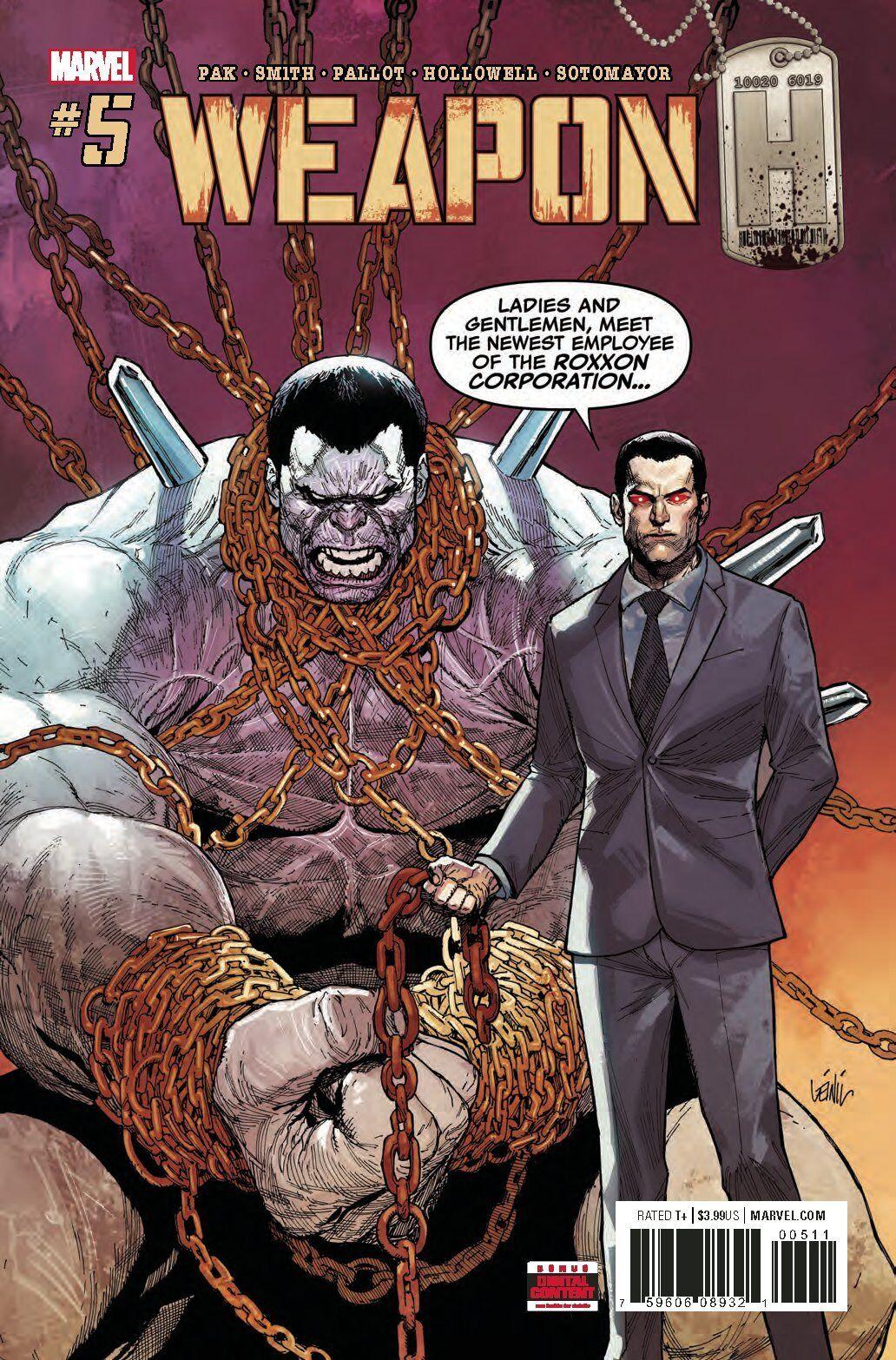Marvel Comics, JAN 2019 NM WEAPON H # 10