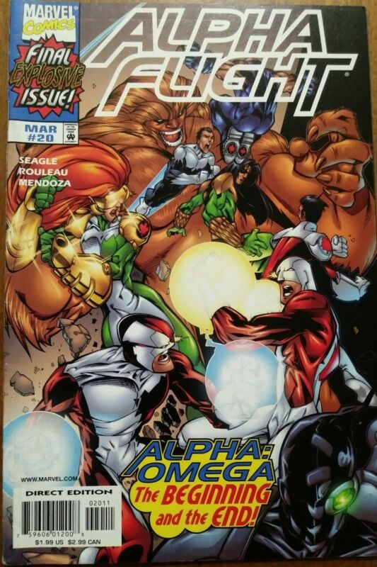 Alpha Fight #20 1999 Marvel Comics Final Issue Alpha Omega