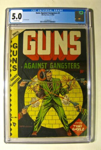 Guns Against Gangsters #1 (Novelty Press 9-10 1948) CGC 5.0 Off-White Pages Cole