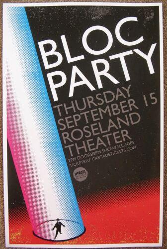 BLOC PARTY 2016 Gig POSTER Portland Oregon Concert