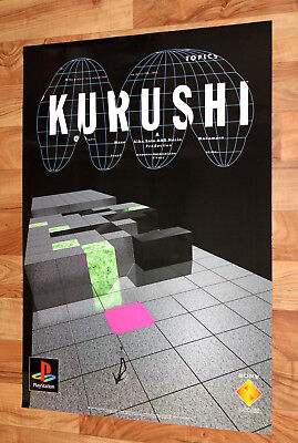 1996 Vintage Kurushi I.Q. Intelligent Qube Game Store Promo Poster Playstation 1 for sale  Shipping to Canada