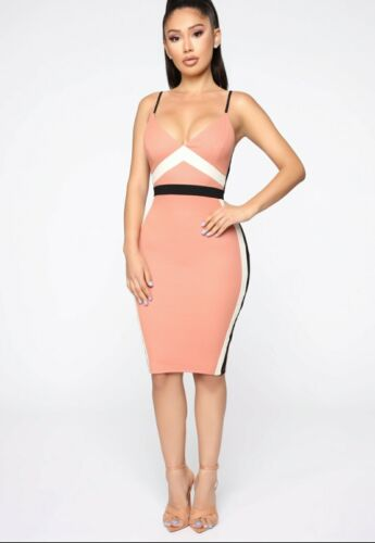 Haven't Met You Mini Dress - Mauve/Combo Sz M