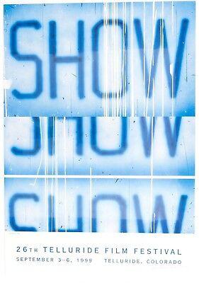 ED RUSCHA 26th Telluride Film Festival SIGNED Print Poster Jasper Johns 1999