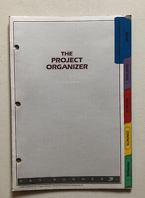 Day Runner The Project Organizer Fits 3 Ring-5 Tabs 021-0500