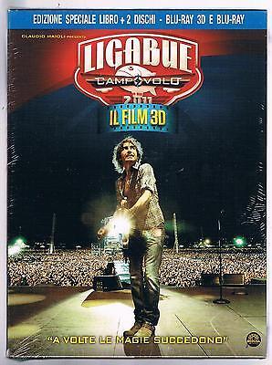 LIGABUE CAMPOVOLO IL FILM LIBRO + BLU-RAY + BLURAY 3D (2 DISCHI) SIGILLATO!!!