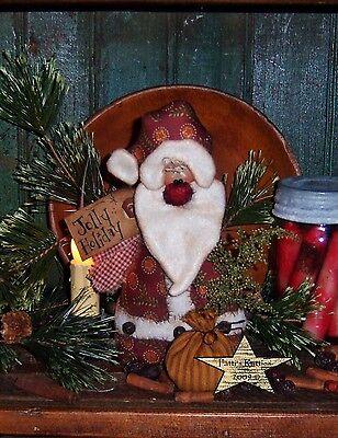 Primitive Patti's Ratties Santa Claus Christmas Tree Doll Paper Pattern #532
