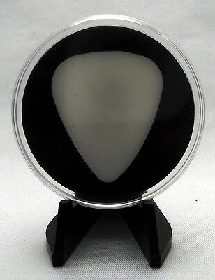 /& Stand MADE IN USA Guitar Pick Display Case White Slug-One Side Viewable