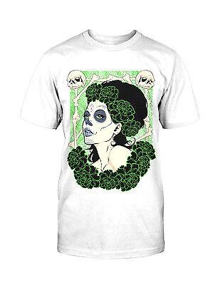 Tag Der Toten T-shirt (La Catrina Flower T-Shirt Blumen dia de los Muertos Tag der Toten Mexico Tattoo)