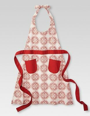 (Red Kitchen Textiles Cooking Apron - Threshold / Christmas Gift  for Ladies)