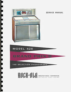 Manuale di servizio service manual jukebox rock ola 426 grand prix ii