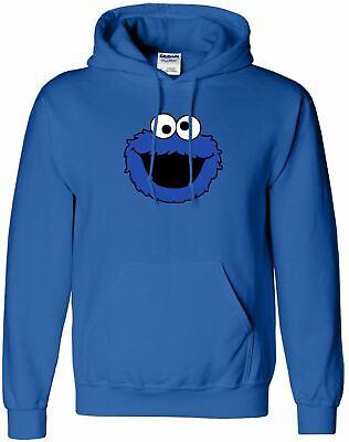 Unisex Cookie Monster Sesame Street Inspired Cool Jumper Hoodie S-XXL (Cookie Monster Hoodie)
