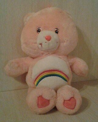 "2002 Pink Care Bear Plush 14"" stuffed animal Cheer Bear"