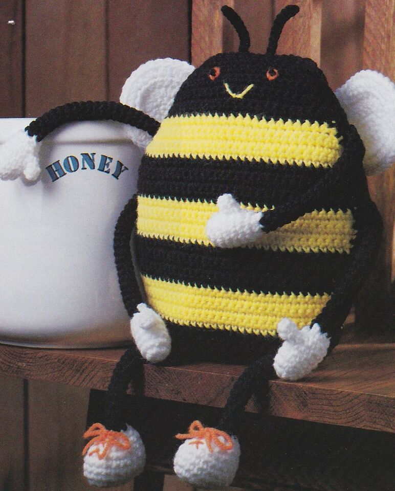 WHIMSICAL Mr. Bumbee/Toy/Decor/Crochet Pattern