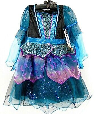 Mystery Witch Girls Halloween Costume Sequin Glitter Dress Hat Size S 4-6x (Girls Witch Hat)
