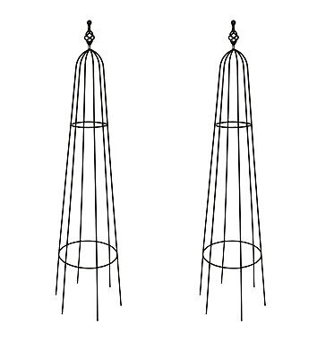 2 x Large Priory Obelisks - Climbing Plant Garden Metal Supports - Plant Frames