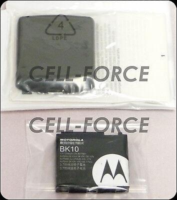 New OEM Motorola Renegade V950 Extended Back Cover Door + Moto OEM BK10 Battery