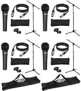 4x-LD-Systems-micset-1-con-microfono-supporto-microfono-5m-Cavo-Microfono-Borsa-2x