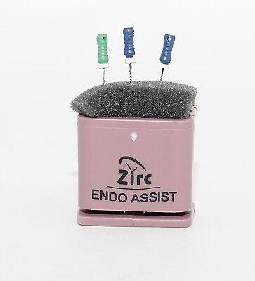 Dental Endodontic Assist Organizer With Measuring Gauge Autoclavable Mauve