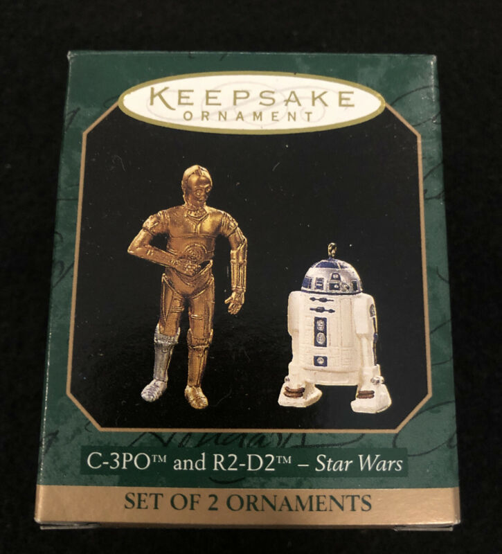 Hallmark Keepsake Star Wars C-3PO And R2-D2 Set of 2 Miniature Ornaments New