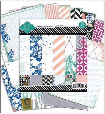 "American Crafts 6"" x 6"" Paper Pad ~ Heidi Swapp ~ MIXED COMPANY ~ 36ct  ~HS01060"