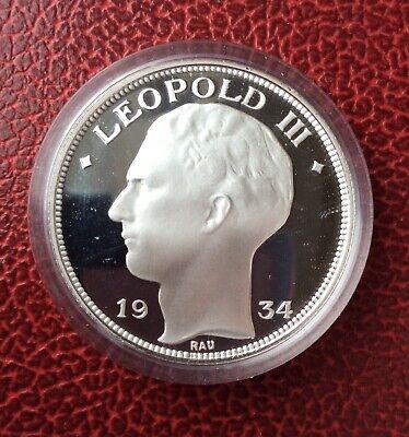 Belgique - Refrappe officielle Monnaie Royale - Rare 20 Francs 1934 FR  - Argent
