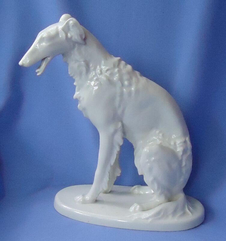 """1920s BORZOI 11"""" VOLKSTEDT GERMANY dog"""