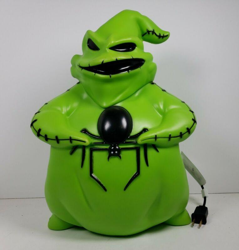 "Oogie Boogie Lighted 14"" Plastic Blow Mold Nightmare Before Christmas Halloween"