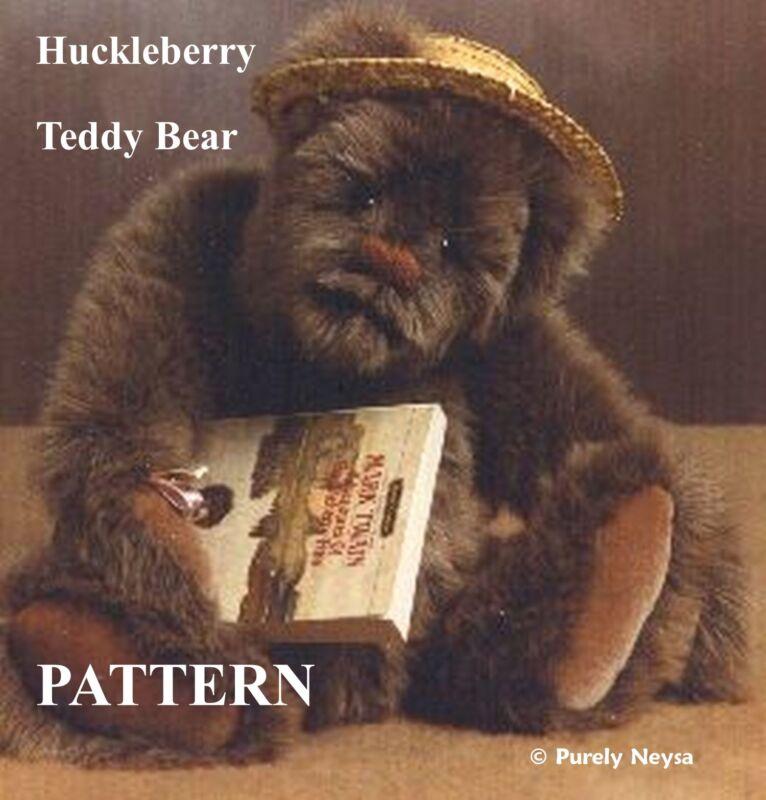 """Mohair/Plush """"Huckleberry"""" Teddy Bear PATTERN by Neysa A. Phillippi Purely Neysa"""