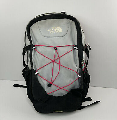 The North Face SlingShot Women's Backpack Hot Pink Gray Black Bookbag