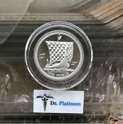 1986 Noble, Isle of Man, PROOF, 1 oz 9995 Platinum Coin - DPPC7