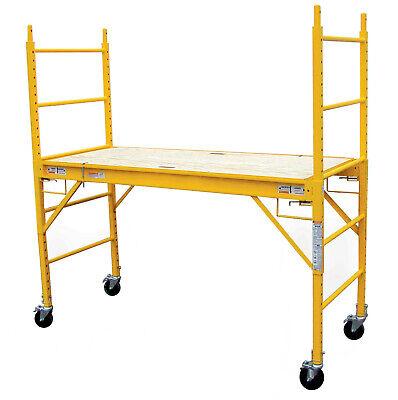 Drywall Baker Scaffolding Rolling Multi Use 1000 Lb Capacity Steel Scaffold