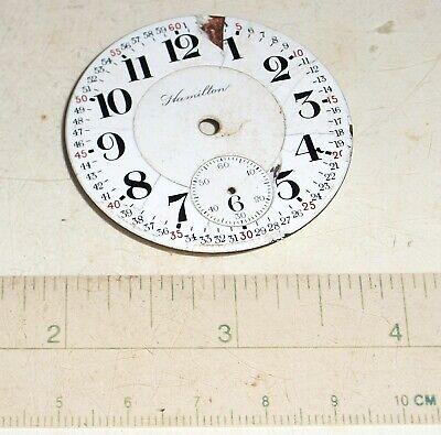 Hamilton Montgomery Antique Railroad Pocket Watch Dial 16-Size