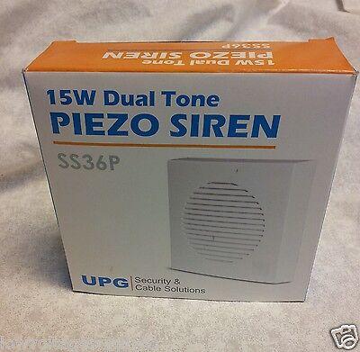 Security Alarm Siren Indoor Wall Dual Two Tone Yelp 15 Watt 105Db 350 Ma 6 14 Dc