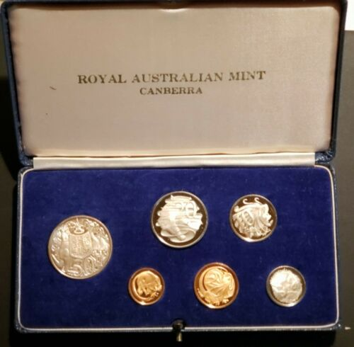 1966 Australia 6 Coin Proof Set!  KM-PS-30!  FREE SHIPPING!