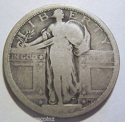 1917 SILVER STANDING LIBERTY QUARTER    1018G