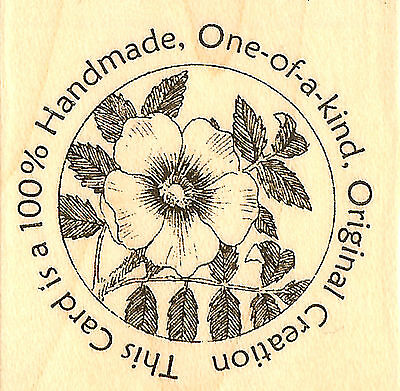 (Original Creation Flower Circle Seal Wood Mounted Stamp IMPRESSION OBSESSION NEW)