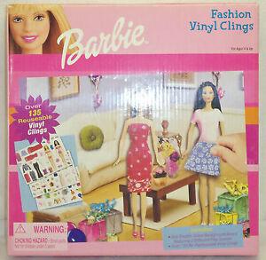 2001 Barbie Doll Fashion Vinyl Clings Paper Doll Set 136pc
