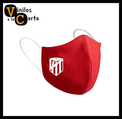 Mascarilla higiénica Atlético de Madrid equipo fútbol escudo a un color