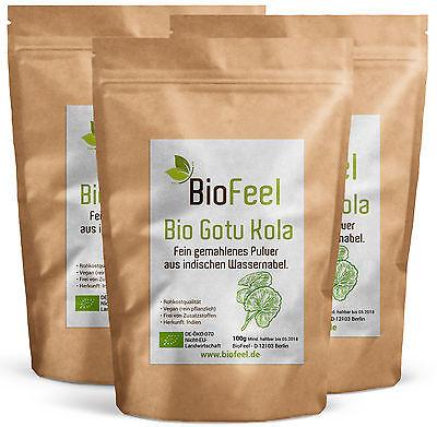 BioFeel - Bio Gotu Kola Pulver, 300g, (3x 100g)
