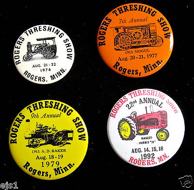 Rogers Threshing Show Buttons/Pinbacks/1976, '77, '79, '92/Rogers, MN/ Tractors