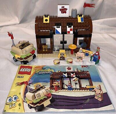 SpongeBob Square Pants Lego #3833 Krusty Krab Adventures COMPLETE Set Minifigs
