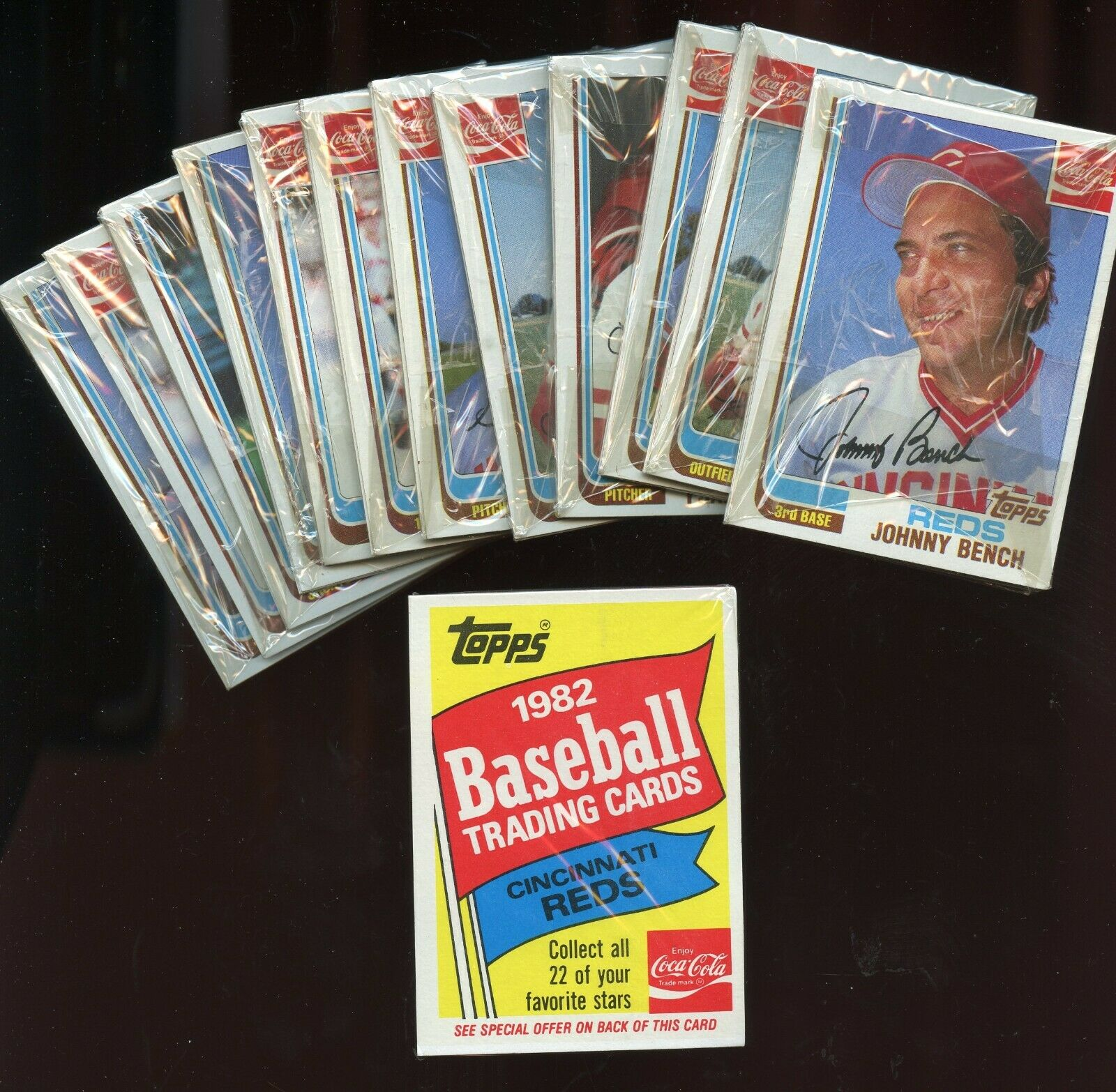 13 1982 Topps COCA COLA Baseball CINCY REDS Packs UNOPENED  - $5.50