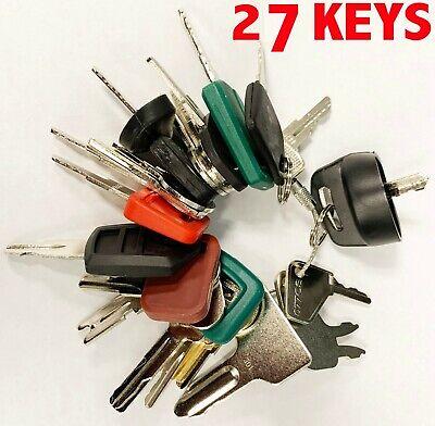 Heavy Equipment Machines Construction Equipment Master Ignition 27 Key Set