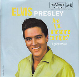 ELVIS-PRESLEY-Are-You-Lonesome-Tonight-PICTURE-SLEEVE-7-45-NEW-red-vinyl-record